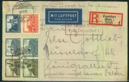 1932, Einschreiben Per Luftpost Ab FRANKFURT (MAIN) Mit Nothilfe Zusammenducken Und Einzelwerten - Allemagne