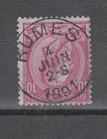 COB 46 Oblitération Centrale RUMES Superbe - 1884-1891 Leopoldo II