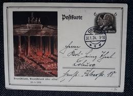 DR 1934, Postkarte P250, COBURG - Deutschland