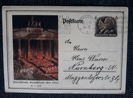 DR 1934, Postkarte P250, INGOLSTADT - Deutschland