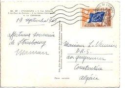 CARTE DU CONSEIL DE L'EUROPE 1961 - Marcophilie (Lettres)