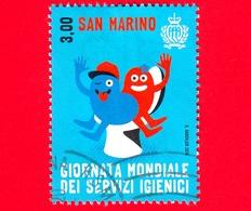 SAN MARINO - Usato - 2015 - Giornata Mondiale Dei Servizi Igienici - Sagome - World Day Of Toilets - 3.00 - Saint-Marin