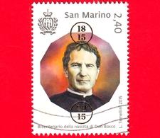 SAN MARINO - Usato - 2015 - 200º Anniversario Della Nascita Di Don Bosco - Ritratto - 2.40 - Saint-Marin