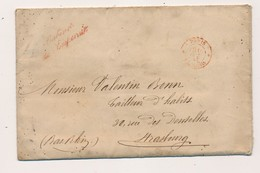 J63 - Marcophilie - Lettre - Cachet 1860 - Cabinet De L'Empereur - Paris Vers Strasbourg, Envoi D'un Carnet De Travail - 1853-1860 Napoléon III