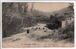 Cpa Sollies Pont Vue Sur Le Gapeau 1914 - Sollies Pont