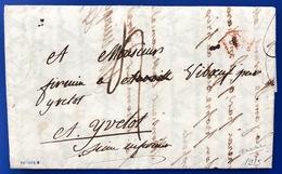 1818 Marque Postale  YVETOT - 1801-1848: Precursori XIX