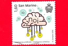 SAN MARINO - Usato - 2016 - Intelligenza Artificiale - Cervello E Lampadine, Intelligenza Collettiva - 1.60 - Saint-Marin