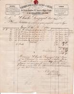 1860 - LA GUILLOTIERE-LES-LYON - Fabrique D'OUATES & Cotons Cardés - F. Louis PERRIN - Documents Historiques