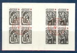 CARNET CROIX ROUGE 1961 OBLITERE PREMIER JOUR EN ROUGE - Booklets