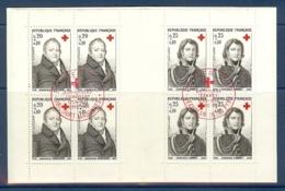 CARNET CROIX ROUGE 1964 OBLITERE PREMIER JOUR EN ROUGE - Croix Rouge