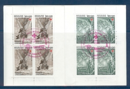 CARNET CROIX ROUGE 1982 OBLITERE PREMIER JOUR EN ROUGE - Croix Rouge