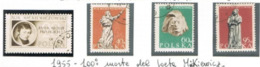 POLONIA (POLAND) - SG  951.954  -  1955  CENTENARY OF A. MICKIEWICZ, POET (COMPLET SET OF 4)    - USED°  - RIF. CP - 1944-.... République