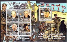 Djobouti, 2014, II World War, D-Day, De Gaulle,  Sheetlet +s/s - De Gaulle (General)