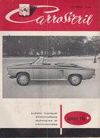 """1958 Carrosserie  No 149  """" Photo  Renault Dauphine  Prototype De La Floride ? En Couverture """" - Automobili"""