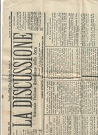 La Discussione Giornale Politico Martedì 14 10 1884 COD Bu.287 - Books, Magazines, Comics