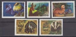 Russia, USSR 25.08.1975 Mi # 4395-99 Nature Reserves Fauna MNH OG - Nuevos