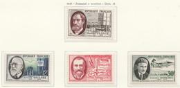 PIA - FRA - 1957 : Scienziati E Inventori  - (Yv 1095-98) - Francia