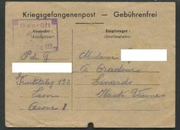 Guerre 39-45 Front Stalag 192 Laon Formulaire Accusé Réception De Colis Janvier 1941 - Guerre De 1939-45