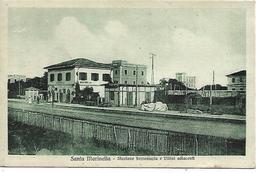 RM401 - SANTA MARINELLA - STAZIONE FERROVIARIA E VILLINI - F. P. - VIAGGIATA DA S. MARINELLA A FIERA DI PRIMIERO 1900 - Other Cities