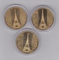 Tour Eiffel Le Drapeau 2014 CAN + 2014 NG + 2015 - Monnaie De Paris