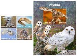GUINEA BISSAU 2020 - Owls. 4v + S/S. Official Issue [GB200108] - Búhos, Lechuza