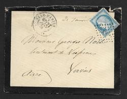 Enveloppe Avec Cachet Gare D'Amiens-Losange Des Ambulants Sur N°60 - Marcophilie (Lettres)