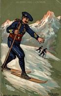 ILLUSTRATION SIGNEE CH. BEAUVAIS LES SPORTS D'HIVER L'ALPINISME - Wintersport