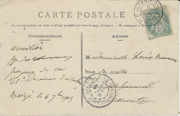 1905- C P A De TAIZE ( Deux-Sèvres )   Cad De Grandes Manoeuvres  INFANTERIE / 21 è DIVISION - Marcophilie (Lettres)