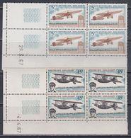 Madagascar N° 435 / 36 XX Aviation : Les 2 Valeurs En Bloc De 4 Coin Daté, Sans Charnière, TB - Madagascar (1960-...)