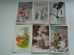 Beau Lot  20 Cartes Postales De Fantaisie Chiffre 1 Janvier Bonne Année     Mooi Lot 20 Postk. Fantasie Cijfer Nieuwjaar - Cartes Postales