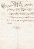 """1823 - NARBONNE - Connaissement Manuscrit- - PORT LA NOUVELLE - Bateau """"La Vierge De Bon Secours"""" - Documenti Storici"""