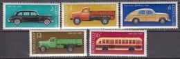 Russia, USSR15.06.1976 Mi # 4473-77 History Of The Soviet Auto Industry (IV)MNH OG - Nuevos