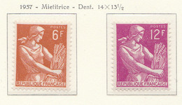 PIA - FRA - 1957 : Uso Corrente : Mietitrice - (Yv 1115-16) - Francia