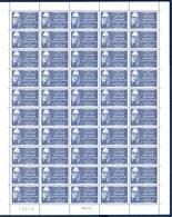 = Jean Rostand, Génétique, Tératologie, Série Médecins Et Biologistes Feuille Complète Neuve N°2458 X50 à 2f20 + 50c - Ganze Bögen