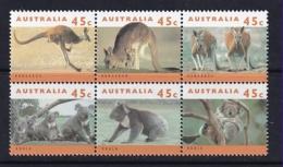 Australia: 1994   Australian Wildlife (Series 2) Set - Kangeroos  SG1453-1458   MNH Block Of 6 - Nuovi