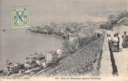 CPA SUISSE VUE DE MONTREUX DEPUIS COLLONGES - VD Vaud