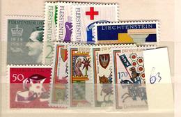 1963 MNH Liechtenstein, Year Complete According To Michel - Liechtenstein