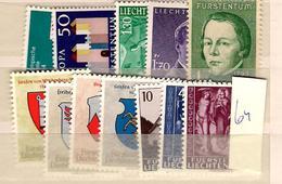 1964 MNH Liechtenstein, Year Complete According To Michel - Liechtenstein