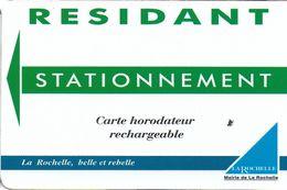 CARTE STATIONNEMENT BANDE MAGNÉTIQUE VILLE DE LA ROCHELLE 17 CHARENTE-MARITIME - Francia