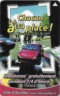 CARTE STATIONNEMENT BANDE MAGNÉTIQUE VILLE DE AURILLAC 15 CANTAL - Cartes De Stationnement, PIAF