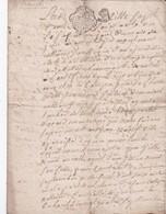 GENERALITE De BRETAGNE - DEUX SOLS - 1 Feuillet - 1761 - Cachets Généralité