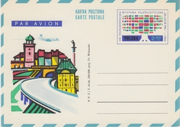 Poland 1964 - National Philatelic Exhibition: 20 Years Polish People's Rep - Airmail Postal Stationery Card Value 2.40zl - Expositions Philatéliques