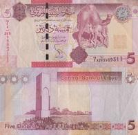Libya / 5 Dinars / 2012 / P-77(a) / XF - Libya