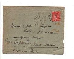 AMBULANT DE NANTES A BREST -B- 1927 - Marcophilie (Lettres)