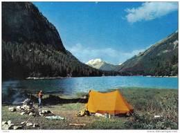 Carte Postale 74. Montriond  Camping Sauvage Et Pêche Au Lac Trés Beau Plan - France