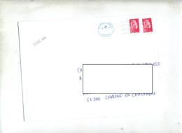 Lettre Flamme Chiffree  Couronne Cassée Curiosite Date - Storia Postale