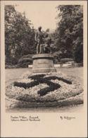 AK Baden Bei Wien Johann Strauß Denkmal Kurpark, Gelaufen 1941 - Baden Bei Wien