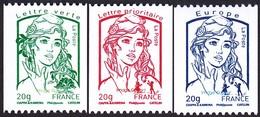 France Marianne De La Jeunesse Par Ciappa Et Kawena N° 4778 - 4779 - 4780 ** Les Gommés 20 Grammes - 2013-... Marianne De Ciappa-Kawena