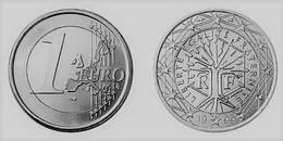 MONNAIE  France 1 Euro  1999 Euro Fautée Error Acier Etat Superbe - Variétés Et Curiosités