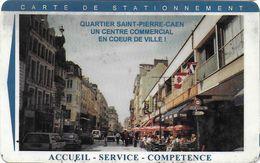 CARTE STATIONNEMENT BANDE MAGNÉTIQUE VILLE DE CAEN 14 CALVADOS - France